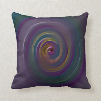 Art In a spin Throw Pillow