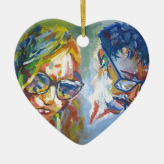 Art in its best ceramic heart decoration