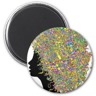 Art in my hair 6 cm round magnet