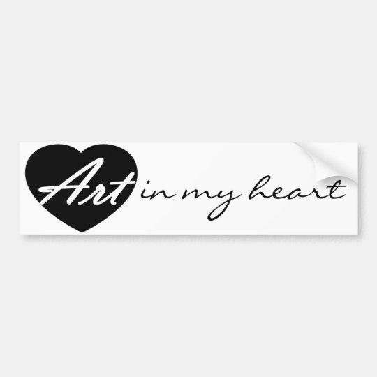 Art In My Heart Bumper Sticker