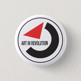 Art in revolution 3 cm round badge