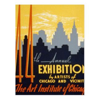 Art Institute 44th Exhibition Postcard