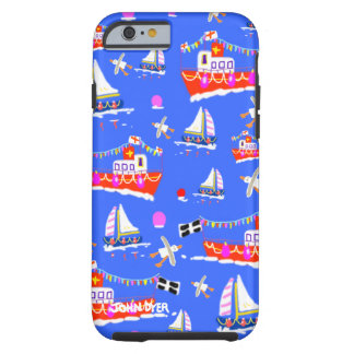 Art iPhone 6 Case: Cornish Boats, Ferries Tough iPhone 6 Case