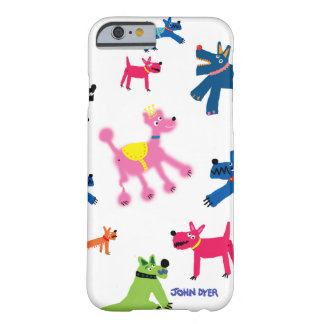 Art iPhone 6 Case: Crazy Dogs Barely There iPhone 6 Case