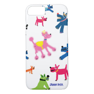 Art iPhone 7 Case: Crazy Dogs iPhone 7 Case