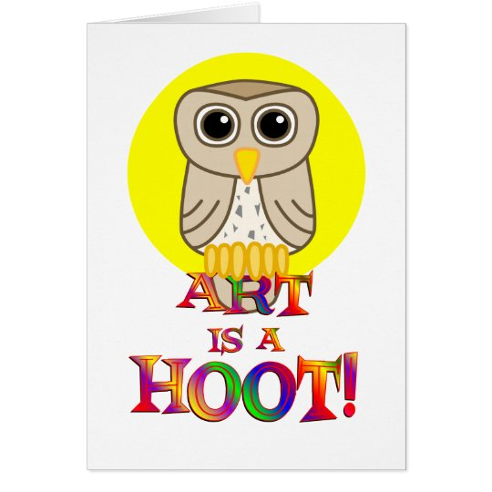 Art is a Hoot Card