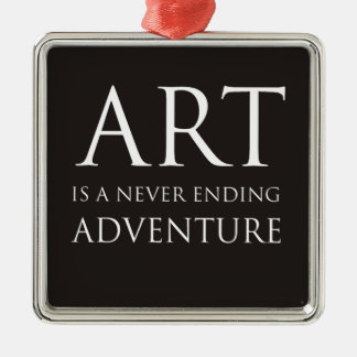 Art Is A Never Ending Adventure Christmas Ornament