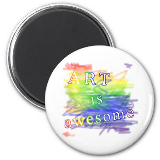 Art is awesome magnet
