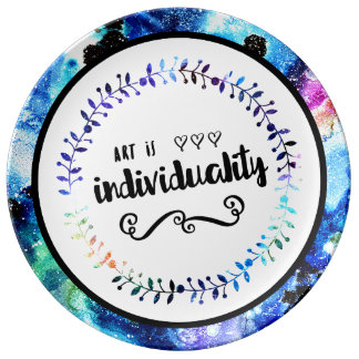 Art is Individuality Plate