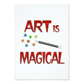 "Art is Magical 5"" X 7"" Invitation Card"