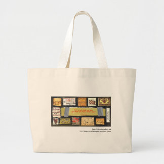 """Art is not..."" Patty O'Rourke collage art bag"