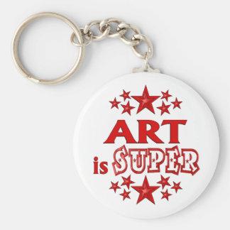 Art is Super Basic Round Button Key Ring