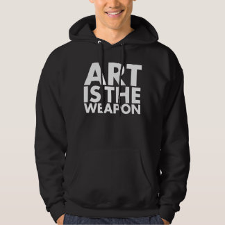 art is the weapon hoodie