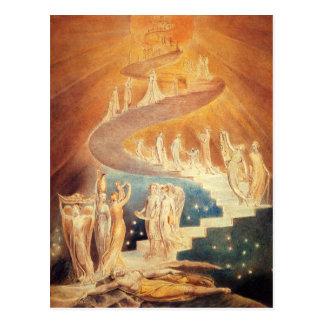 Art Jacobs ladder William Blake Post Card