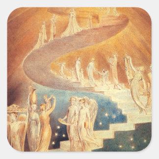 Art Jacobs ladder William Blake Square Sticker