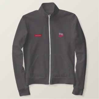Art Jogger: Seaside Fleece top. Women. Red. Jackets