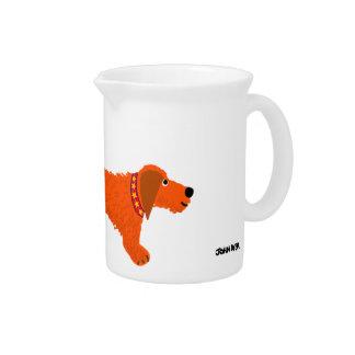 Art Jug: Pitcher - Dachshund Dog by John Dyer