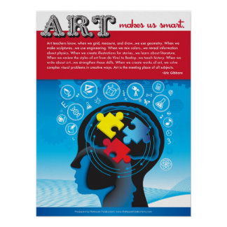 Art Makes Us Smart. Poster