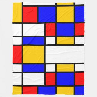 Art Mondrian style Fleece Blanket