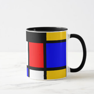Art Mondrian Style Mug