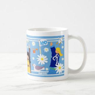 Art Mug: Guides 100 Centenary Mug. Blue. Basic White Mug