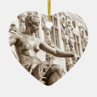 Art muse ceramic heart decoration