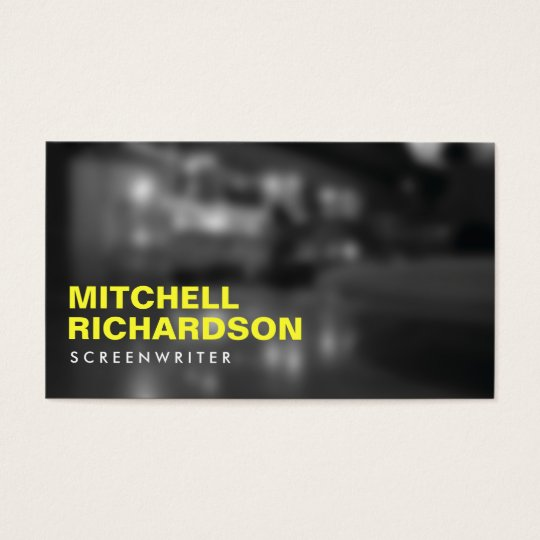 ART NOIR PHOTO with YELLOW TYPE Business Card