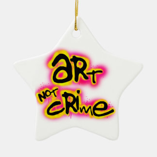 Art Not Crime Ceramic Star Decoration