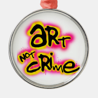 Art Not Crime Christmas Ornament