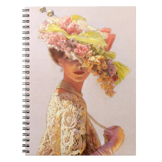 Art Notebook Elegant Victorian Lady fashion beauty