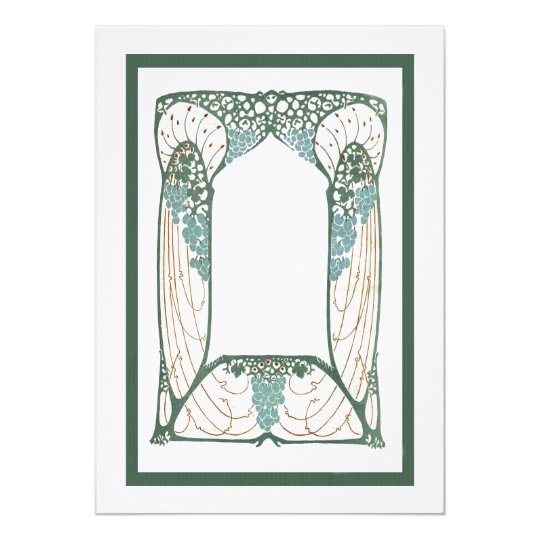 Art Nouveau 1920s Vintage-Themed Frame Card