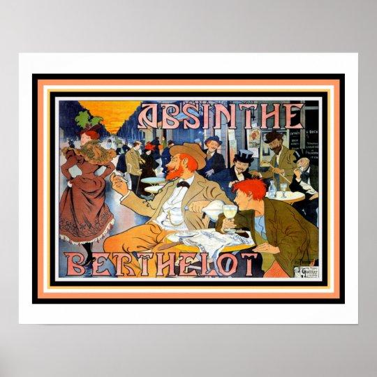 Art Nouveau Absinthe Berthelot Poster 16 x 20