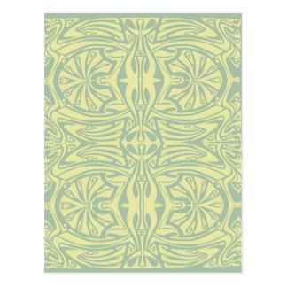 Art nouveau abstract design postcard