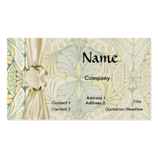 art nouveau abstract ornate pattern business cards