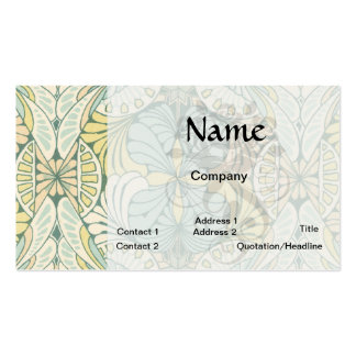 art nouveau abstract ornate pattern business card template