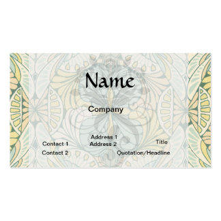 art nouveau abstract ornate pattern business card templates
