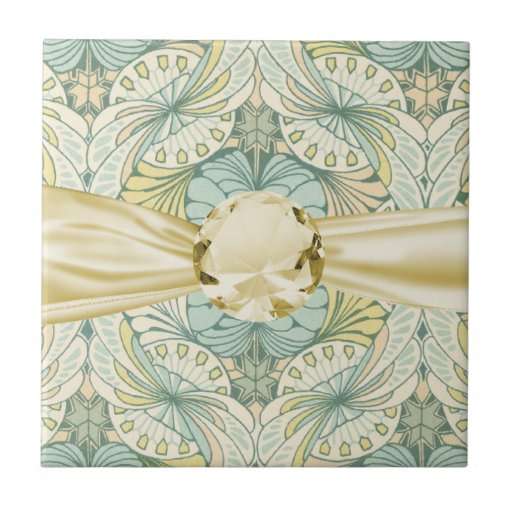 art nouveau abstract ornate pattern small square tile