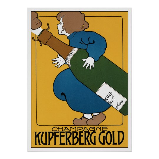 Art Nouveau Advertising Poster Print: Champagne