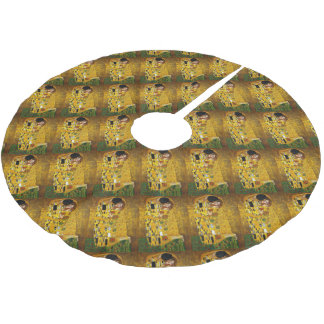 Art Nouveau age, The Kiss from Klimt Brushed Polyester Tree Skirt