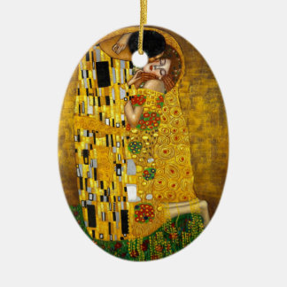 Art Nouveau age, The Kiss from Klimt Christmas Ornament