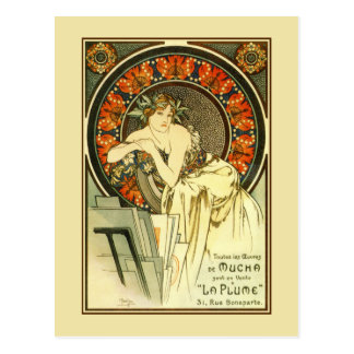 Art Nouveau Alfons Mucha,  portfolio ad Postcard