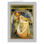 Art Nouveau Alfons Mucha Princess Hyacinth Greeting Card