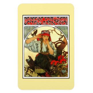 Art Nouveau Alfons Mucha Slav Maiden (girl) Rectangular Photo Magnet