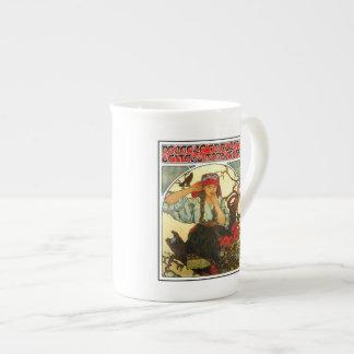 Art Nouveau Alfons Mucha Slav Maiden (girl) Bone China Mug