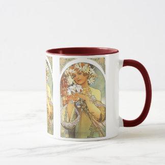 "Art Nouveau - Alphonse Mucha ""Flower"" Mug"