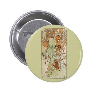 Art Nouveau - Alphonse Mucha - Winter Pin