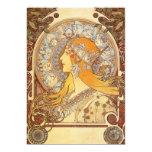 Art Nouveau Alphonse Mucha Zodiac Invitations
