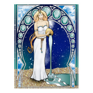 Art Nouveau Aquarius Postcard