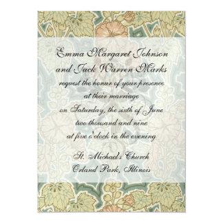 art nouveau art deco nature floral pattern invitation