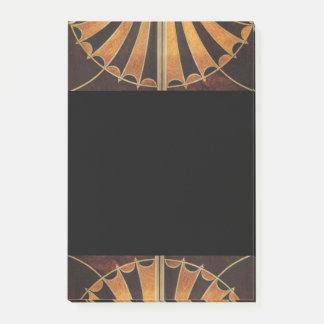 art Nouveau,art deco, vintage, multi wood colours, Post-it® Notes